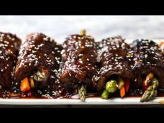 Teriyaki Steak Roll-Ups - Video Recipe, Ingredients list and easy step by step instructions. Visit us online for more Tasty Recipes! Steak Recipes, Cooking Recipes, Cooking Videos, Cooking Tips, Steak Roll Ups, Teriyaki Steak, Tender Steak, Roll Ups Recipes, Beef Dishes