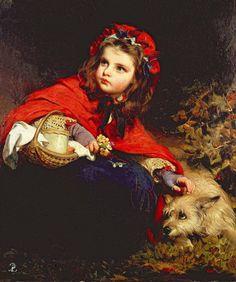 "James Sant  (British, 1820–1916), ""Little Red Riding Hood"""