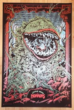 """2014 """"Little Shop Of Horrors"""" - Variant Movie Poster by Ken Taylor"""