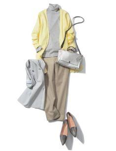 2017/03/12:365日コーディネート | Oggi.TV Coordinating Colors, Japanese Fashion, New Outfits, Casual Chic, Spring Fashion, Duster Coat, Dressing, Style Inspiration, Womens Fashion