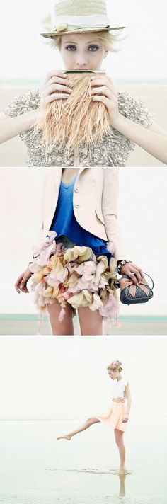 Ruffles and Flowers / at the beach. photography by Fabio Bartelt for Marie Claire
