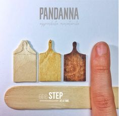 Making miniature cutting boards from large popsicle sticks! Follow me on Facebook and Instagram https://www.facebook.com/Apprendistaminiaturista http://instagram.com/pandannaapprendistaminiaturist