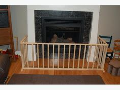 Baby proof fireplace with gates www.ohhappyplay.com | Lenni Rose ...