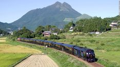 """The """"Seven Stars in Kyushu"""" is Japan's most luxurious train, featuring seven carriages that hold just 30 people in 14 suites. The train offers two itineraries: a two-day option, which stays around Fukuoka, or a four-day journey that does a loop of the southern Japan island."""