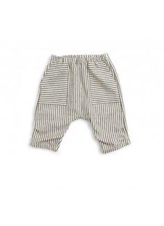 Organic Summer Crop Pant / Black Stripe - BABY BOY - Products : Fawn Shoppe - Global Boutique For Unique Children's Designs