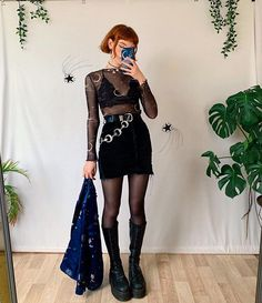 Look Fashion, Autumn Fashion, Fashion Outfits, Womens Fashion, Moon Costume, Looks Dark, Look Rock, Witch Outfit, Couture