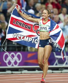 Jessica Ennis. That night was amazing! So glad I got to see her the day before, it was a dream come true to actually go to the Olympics!!!!