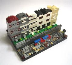 Modern Townhouses ( rear view ) | ReBrick | From LEGO Fan To LEGO Fan