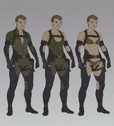 ///AjTron, 'Sneak' suit concept art for Metal Gear Online Anime Military, Military Gear, Military Uniforms, Armor Concept, Concept Art, Armadura Steampunk, Metal Gear Online, Character Concept, Character Art