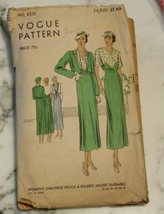 RARE Vogue 6335 Vintage Dress and Bolero by EleanorMeriwether, $30.00