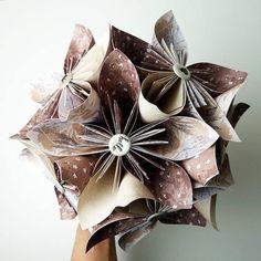 Solimicro : bouquet en origami miniature cadeau personnalisé