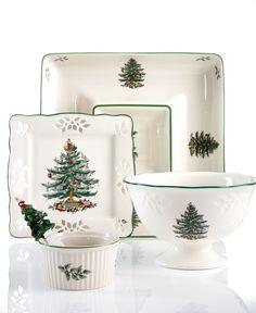 "Spode ""Christmas Tree"" Serveware Collection - Serveware - Dining & Entertaining - Macy's"