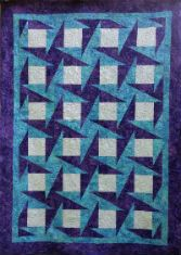 """""""John's Star"""" quilt, made using Bloc-Loc's Half-Rectangle Triangle ruler..  A Warped Spinster design."""