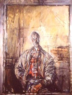 "Style ""Expressionism"" - WikiPaintings.org  Alberto Giacometti  Diego in a Plaid Shirt, 1954"