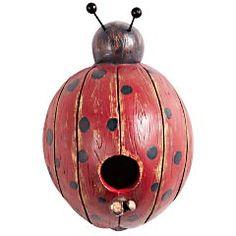 Ladybug Birdhouse...want! It would go w my ladybug wind chime!