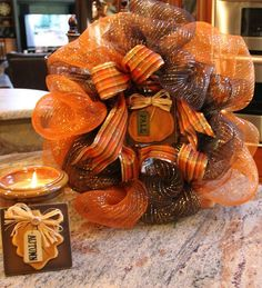 Mesh Ribbon Wreath Tutorial | Mesh Ribbon Wreath - Picture Tutorial