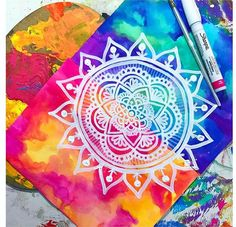 ImageFind images and videos about beautiful, art and zentangle on We Heart It - the app to get lost in what you love. Mandala Doodle, Doodle Art, Mandalas Drawing, Zentangles, Kunst Inspo, Art Inspo, Mandala Design, Art Sketches, Watercolor Paintings