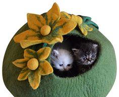 Cat Cave Bed - Handmade Felted Merino Wool House for Cats... https://www.amazon.com/dp/B01637YYOQ/ref=cm_sw_r_pi_dp_BR2GxbTFNEY9N    14 each