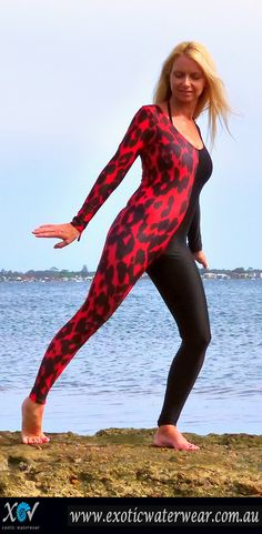 Protect your skin! UPF50+sunprotection for all watersports. Full body swimwear / stingersuits with style www.exoticwaterwear.com.au Swimsuits, Bikinis, Swimwear, Snorkelling, Catsuit, Water Sports, Leotards, Full Body, Nylons