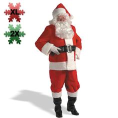 Kris Kringle Suit Adult Plus Costume - 2X