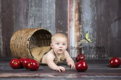 Apples; baby photography