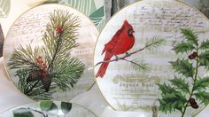 Vintage Christmas Appetizer Plates 222 Fifth Noella China