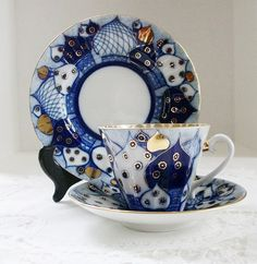 Lomonosov Porcelain Russian Domes Cup Saucer by lakesidecottage, $75.00
