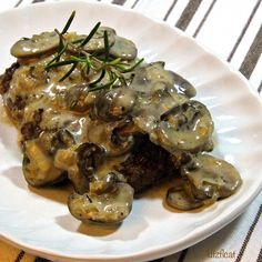 Mushroom Cream Gravy Sauce - not sure if it's a gravy or a sauce, but it's good.  Just give it some time to cook down.