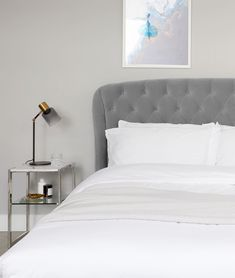 e695d8e5b410 Manolo Feather Grey Velvet King Size Bed with Storage
