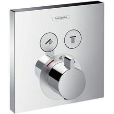 Hansgrohe ShowerSelect afbouwdeel voor inbouwkraan thermostatisch met 2 stopkranen chroom 15763000 | Warmteservice