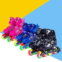 New Children Inline Skates Helmet Protective Gear Set Rollerblade Skating Outfit