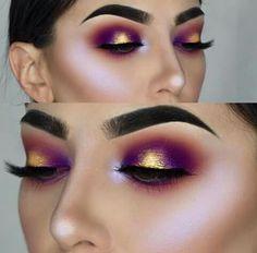 maquillaje Dramático con un toque metálico