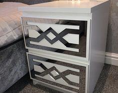 Ikea malm   Etsy Coral Furniture, Dresser Furniture, Mirrored Furniture, Furniture Hardware, Refurbished Furniture, Upcycled Furniture, Home Decor Furniture, Ikea Malm Drawers, Ikea Chest Of Drawers