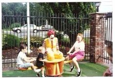 Cassandra Conway shares this nostalgic look at a Ronald McDonald teeter-totter!