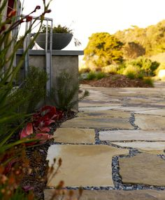 pebble grout instead of sand or grass    Landscape Stone Patio Design, Pictures, Remodel, Decor and Ideas - page 5