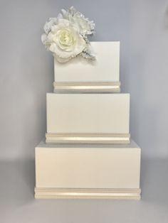 Wedding Card Box Cascade Ivory Or White Wedding Card Holder Unique Elegant Wedding Card Box Custom Box Handmade Gift Card Box by WrapsodyandInk on Etsy