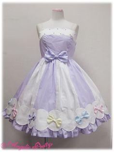 angelic pretty カラフルリボンジャンパースカート