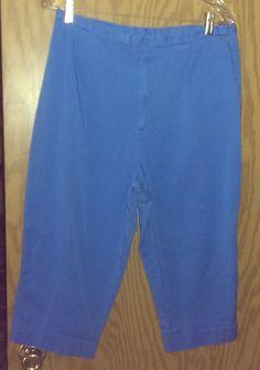 5e9882a78c46a Kim Rogers Ladies Plus Size Blue Capri Pants~Stretch~Sz 16~Cotton Spandex
