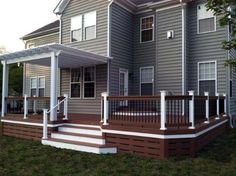 """Deck Skirting Ideas - DIY Pressure Treated Deck Skirting Ideas, """"We decided to attack an annoying outdoor project before we get to having any fun. Since building our deck last year Patio Plan, Backyard Patio, Deck Plans, Cool Deck, Diy Deck, Deck Underpinning Ideas, Deck Skirting, House Skirting, Deck Colors"""