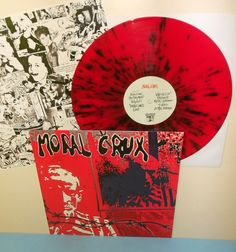 MORAL CRUX s/t  self-titled Lp Record RED Vinyl with Black Splatter