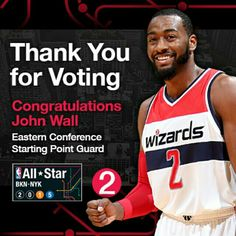 Congratulations to on being named a starter to the 2015 NBA All-Star Game! All Stars 2, John Wall, Eastern Conference, Go Big Blue, Washington Wizards, Kentucky Wildcats, Nba, Congratulations, Game