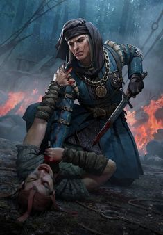 A new open PTR (Public Test Realm) has gone live for Gwent, CD Projekt Red's card game based on The Witcher. Players have already collected some beautiful new artwork for potential cards from it. Character Concept, Character Art, Concept Art, Character Design, Witcher Art, The Witcher 3, Dnd Characters, Fantasy Characters, Medieval Fantasy
