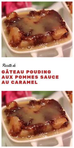 Sauce Au Caramel, Pudding Recipes, Dessert Recipes, Glaze For Cake, Recipe For 2, Kinds Of Desserts, Pudding Cake, Cake Icing, Toffee