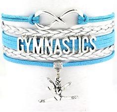 Gymnastics Bracelet - Teal/Silver