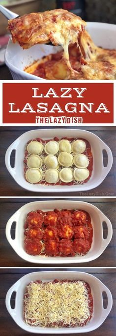 Lazy Lasagna (Just 3 Ingredients!) - The Lazy Dish 3 Zutaten gebackene Ra., Lazy Lasagna (Just 3 Ingredients!) - The Lazy Dish 3 Zutaten gebackene Ra. Lazy Lasagna (Just 3 Ingredients!) - The Lazy Dish 3 Zutaten gebackene Ra. Quick Meals To Make, Food To Make, Easy Meals For Dinner, Healthy Quick Dinners, Simple Easy Dinner Recipes, Dinner Ifeas, One Dish Dinners, Cook Dinner, Roast Dinner