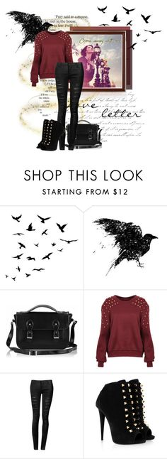 """At Last I See The Light"" by forget-this-life ❤ liked on Polyvore featuring Raven Denim, Giuseppe Zanotti, rapunzel and tangled"