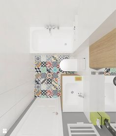 Wystrój wnętrz - Łazienka - pomysły na aranżacje. Projekty, które stanowią prawdziwe inspiracje dla każdego, dla kogo liczy się dobry design, oryginalny styl i nieprzeciętne rozwiązania w nowoczesnym projektowaniu i dekorowaniu wnętrz. Obejrzyj zdjęcia! - strona: 2