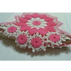 Vintage Hand Crocheted Pillowcases with Pink and by FabricMuse, $20.00