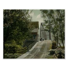1911 Delaware Bridge and Toll Gate, Callicoon, NY Poster