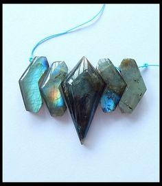 135Ct Natural Labradorite Gemstone Beads Cluster,For Necklace  LABRADORITE BEAD GEMSTONE HAND POLISHED GEMSTONE FROM  GEMROCKAUCTIONS